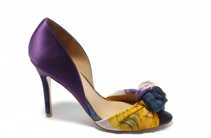 purple badgley mischka bridal shoes