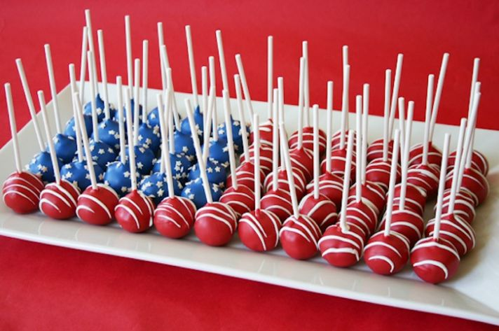patriotic wedding ideas cake alternatives wedding cake pops