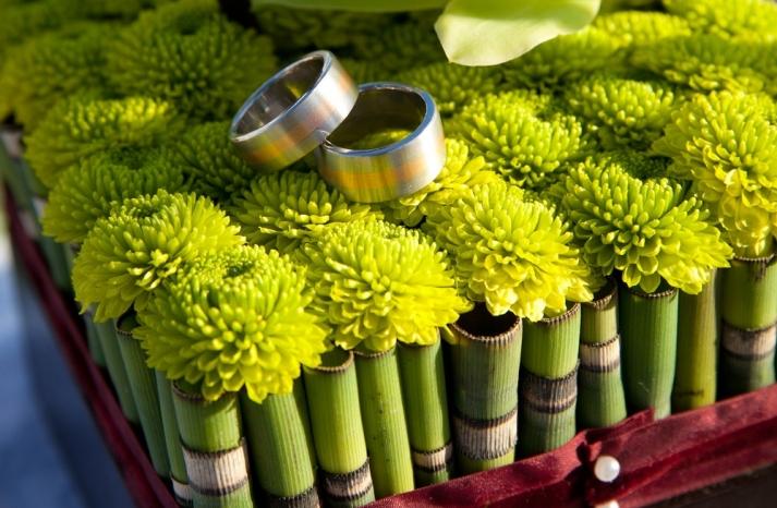 bamboo wedding centerpiece same sex wedding