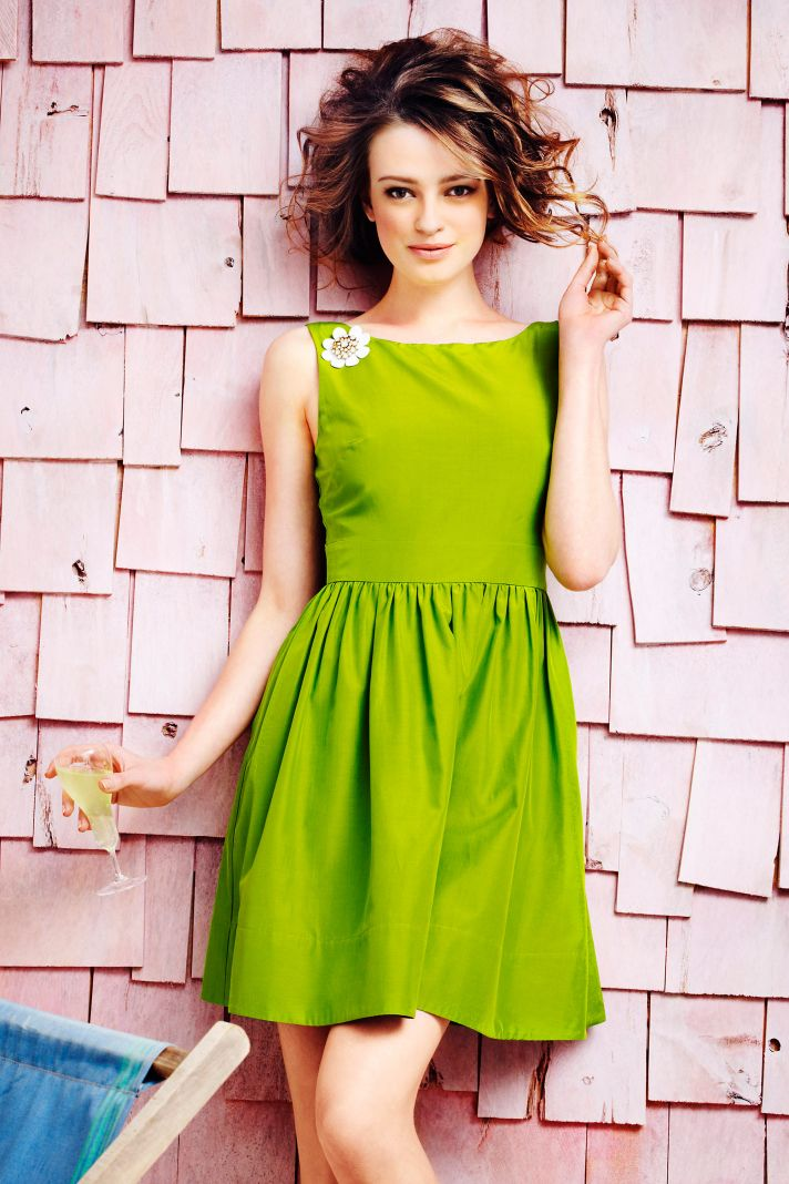 lime green bridesmaid dress BHLDN