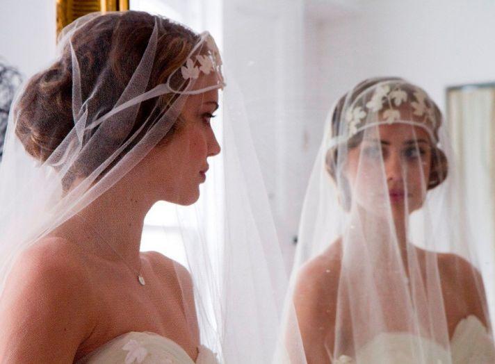 vintage bridal veil 1920s wedding style