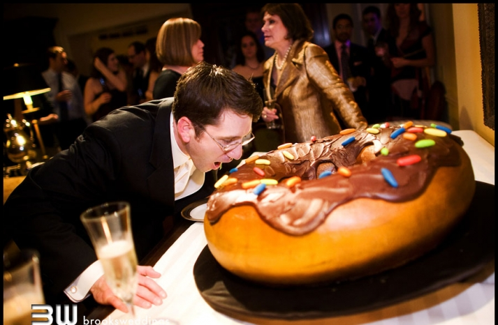 cool grooms cake extra large donut