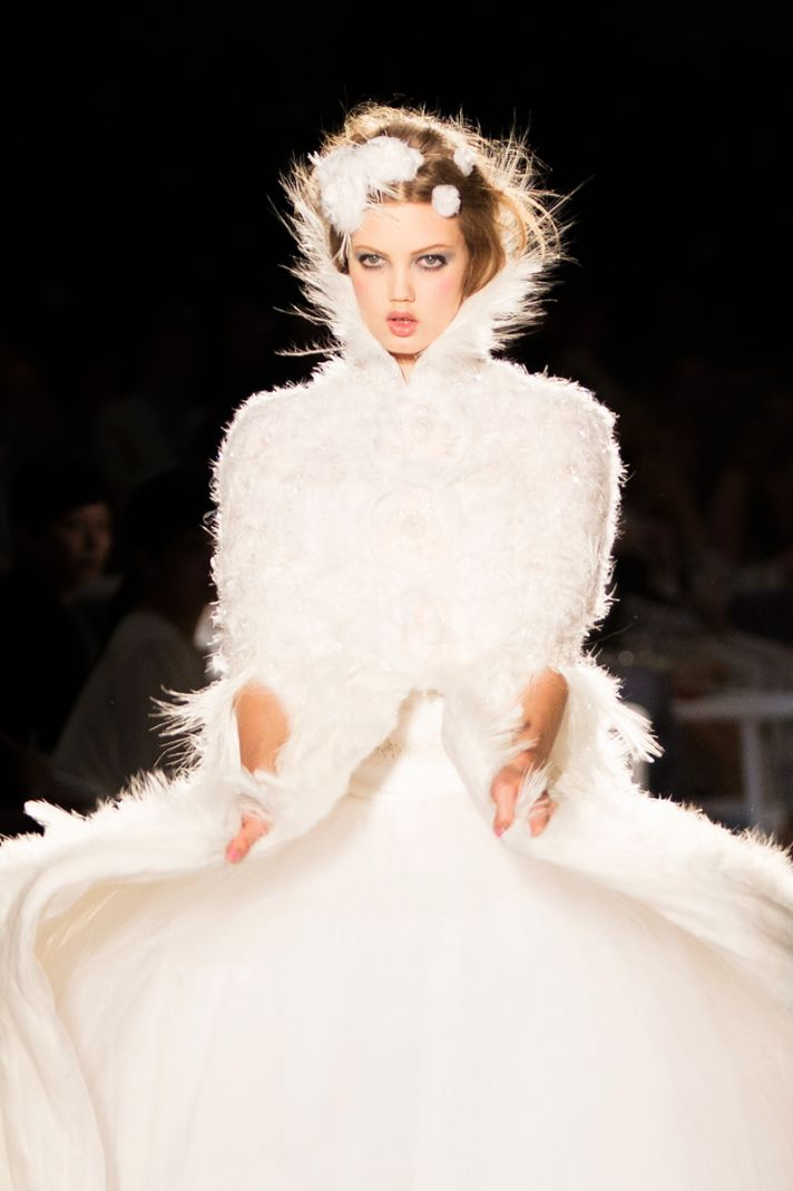 runway to white aisle wedding hair beauty inspiration Chanel