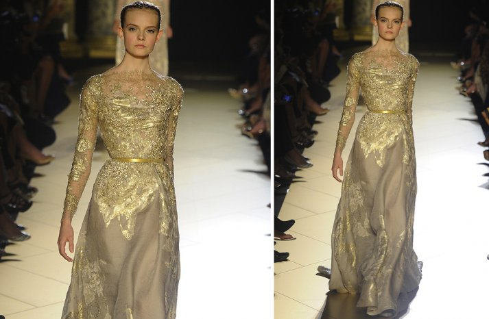 runway to white aisle wedding dress inspiration elie saab couture fall 2012 4