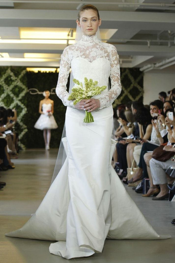 wedding dresses for traditional church ceremonies Oscar de la Renta 2013 bridal 1