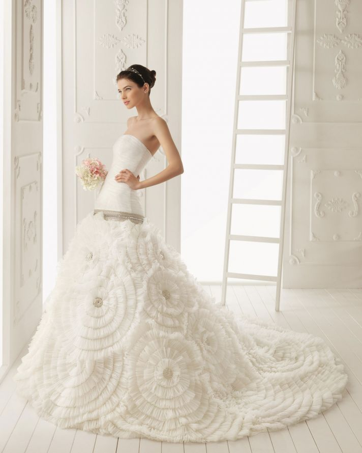 2013 wedding dress Aire Barcelona bridal gowns rosana