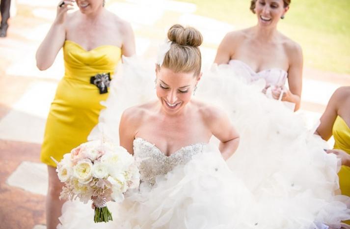 15 pretty bridal updos wedding hair inspiration high ballet bun