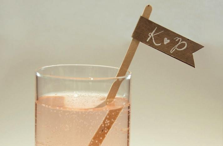 custom wedding calligraphy reception drink stirs 2