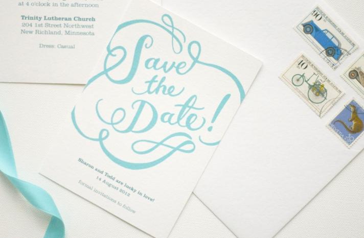 gorgeous wedding invitations hand calligraphy wedding stationery sky blue ivory