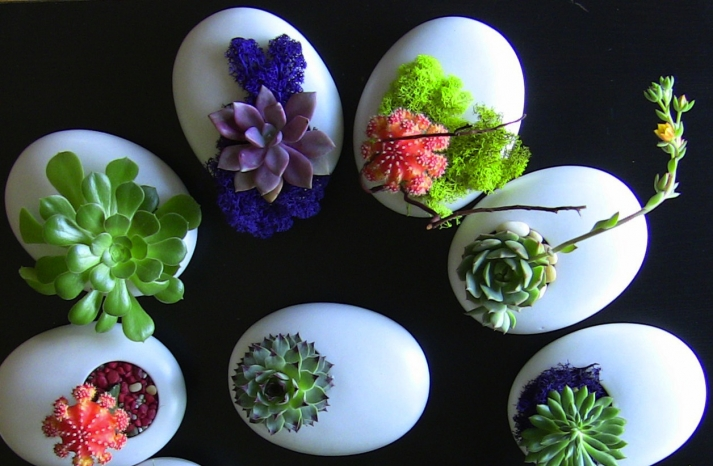 simple wedding centerpieces for a handcrafted wedding white egg like vases