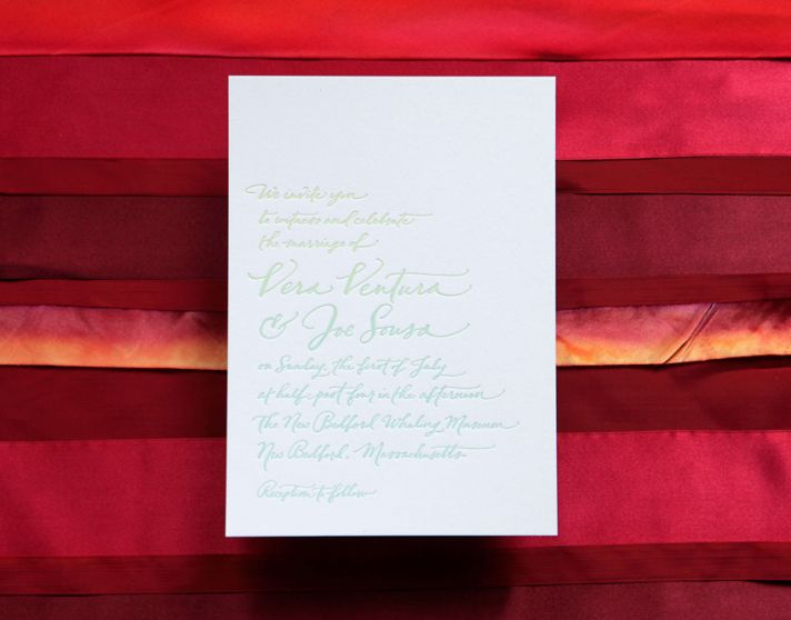 handmade wedding invitations elegant calligraphy by Paperfingers new wedding stationery collection 1