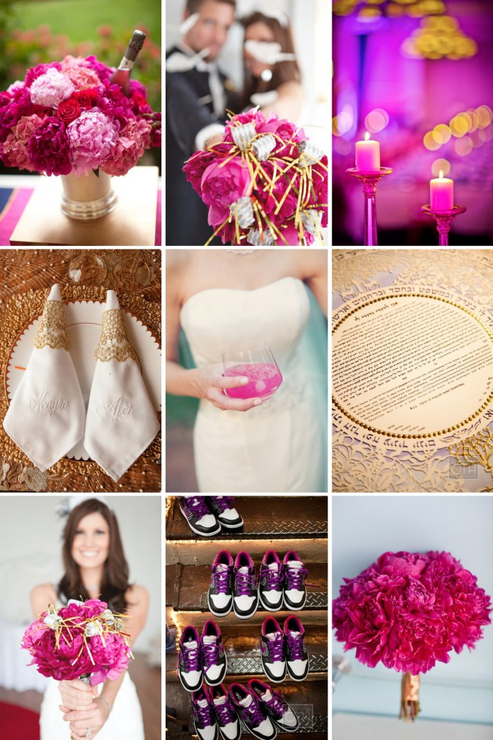 Gold and Magenta Wedding Inspiration