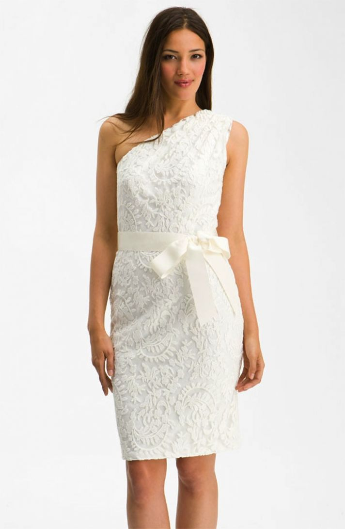tadashi shoji lace LWD short wedding dresses for the reception Nordstrom wedding suite 1