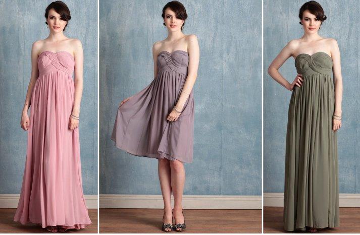 ruche bridesmaids dresses afforadable stylish bridal party attire 1