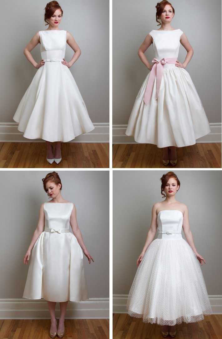 vintage inspired tea length wedding dresses Fancy New York