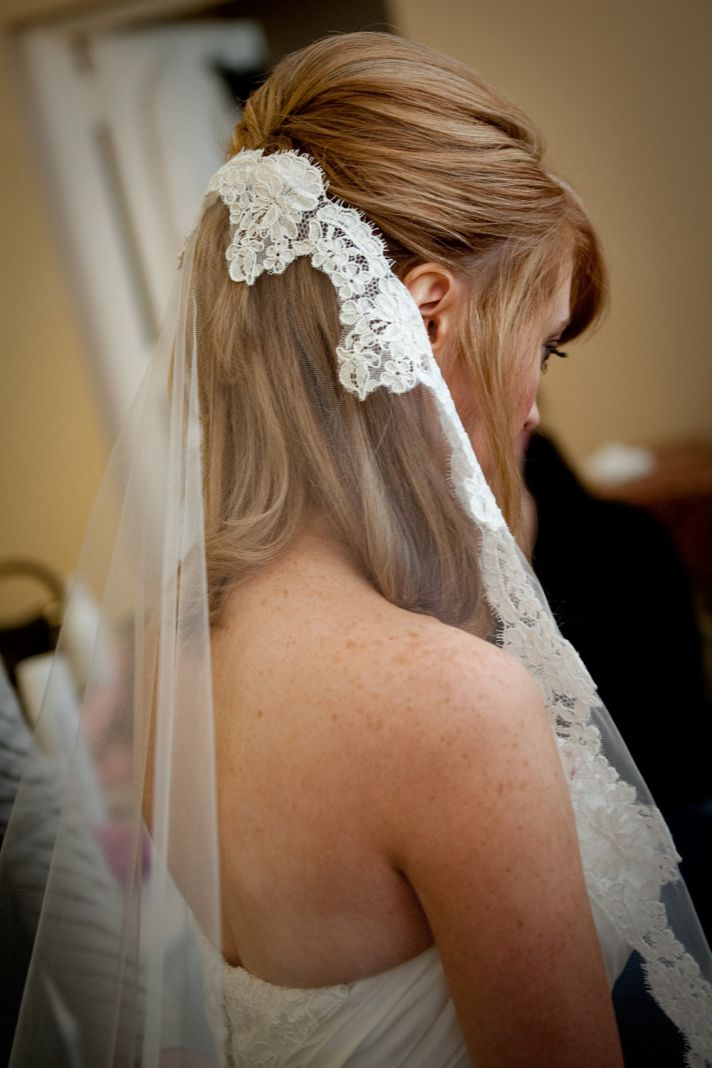 romantic bridal accessories wedding hair headpieces mantilla veil 3