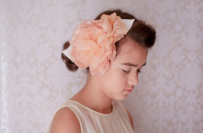 peach wedding pretties for romantic weddings flower girl accessory