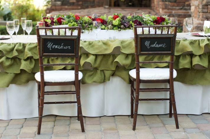 Parisian romance wedding inspiration handmade weddings Amelie theme romantic outdoor tablescape