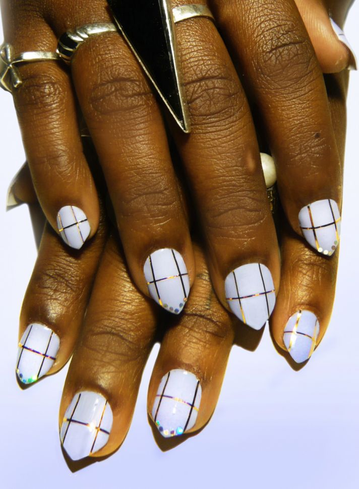 wedding worthy manicures for the fashion forward bride ivory gold