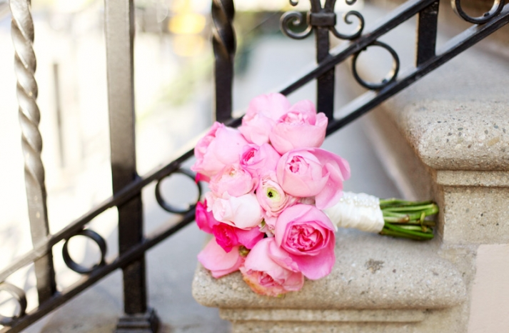 gorgeous pink peony bridal bouquet