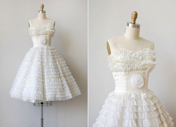 vintage wedding dress bridal gown inspiration from Etsy LWD