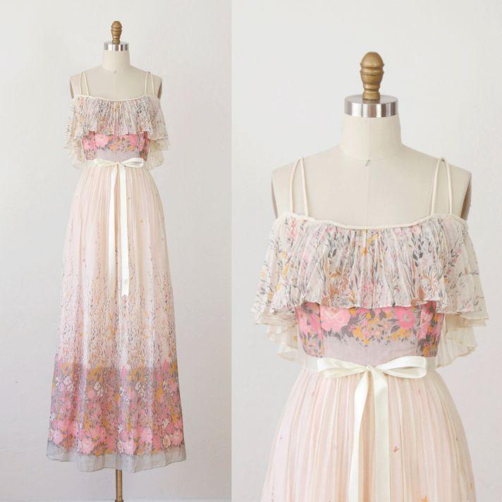 Etsy Vintage Wedding Dress 35 Cute vintage wedding dress bridal