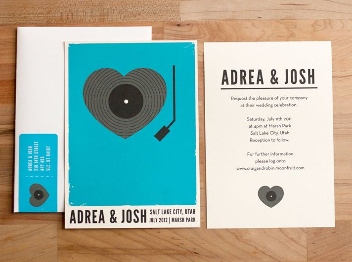 music themed wedding accessories ceremony reception decor retro invites 2