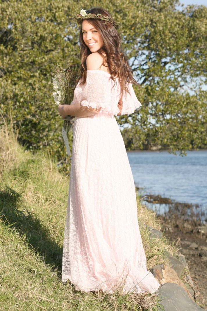 White Hippie Wedding Dresses unique wedding dresses non