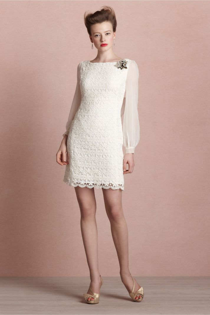 covetable bridesmaid dresses from BHLDN 2013 bridal party style ivory sheer sleeves