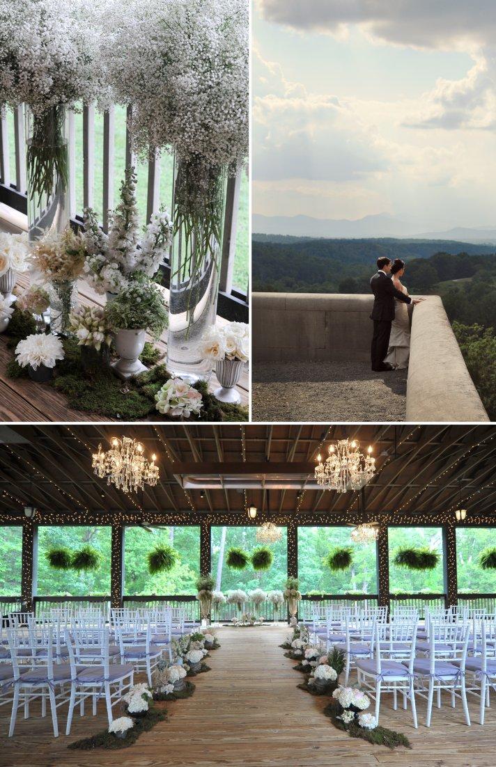 elegant wedding in North Carolina classic wedding party romantic setting 3