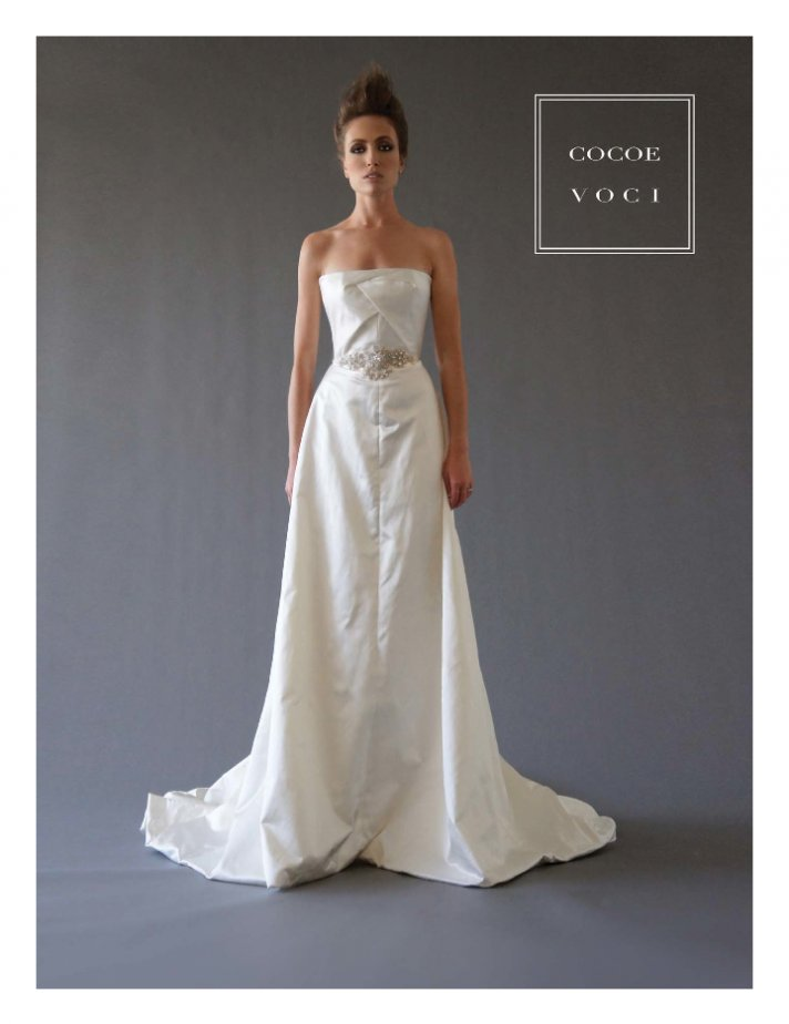fall 2012 wedding dress Cocoe Voci bridal gowns 4