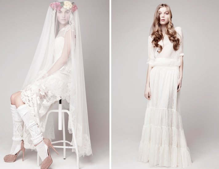 bohemian bridal style wedding dresses and accessories Otaduy 1
