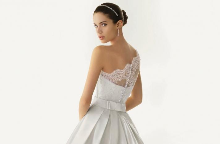 2013 wedding dresses beautiful statement backs by Rosa Clara lace one shoulder