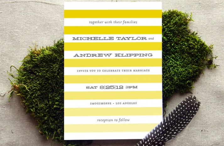 wedding invitations for modern weddings Etsy wedding finds yellow ombre