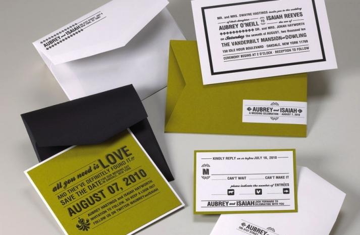 wedding invitations for modern weddings Etsy wedding finds pea green black white