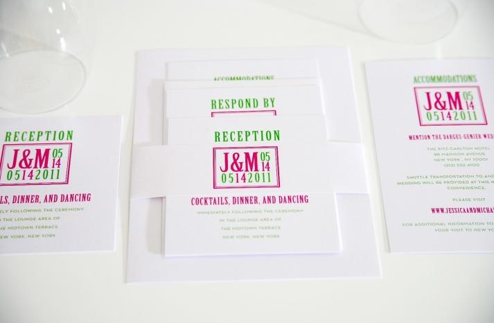 wedding invitations for modern weddings Etsy wedding finds green pink