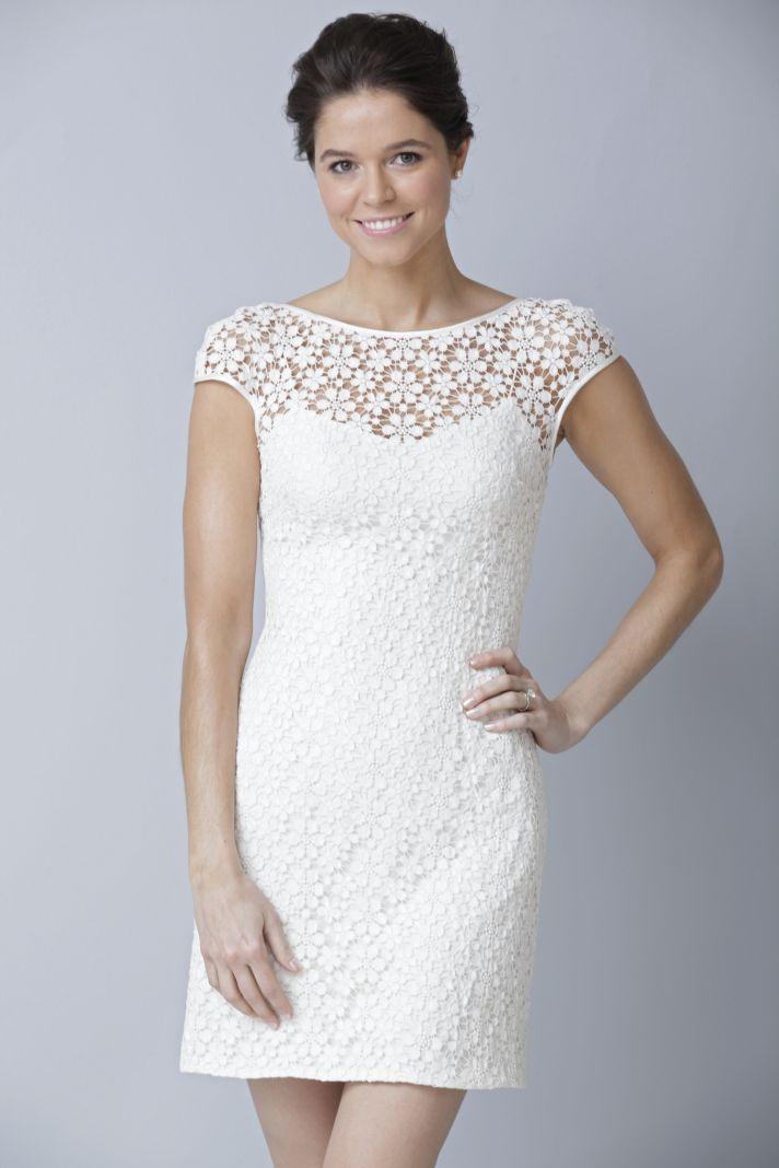 2013 wedding dress by Theia bridal gowns LWD illusion neckline