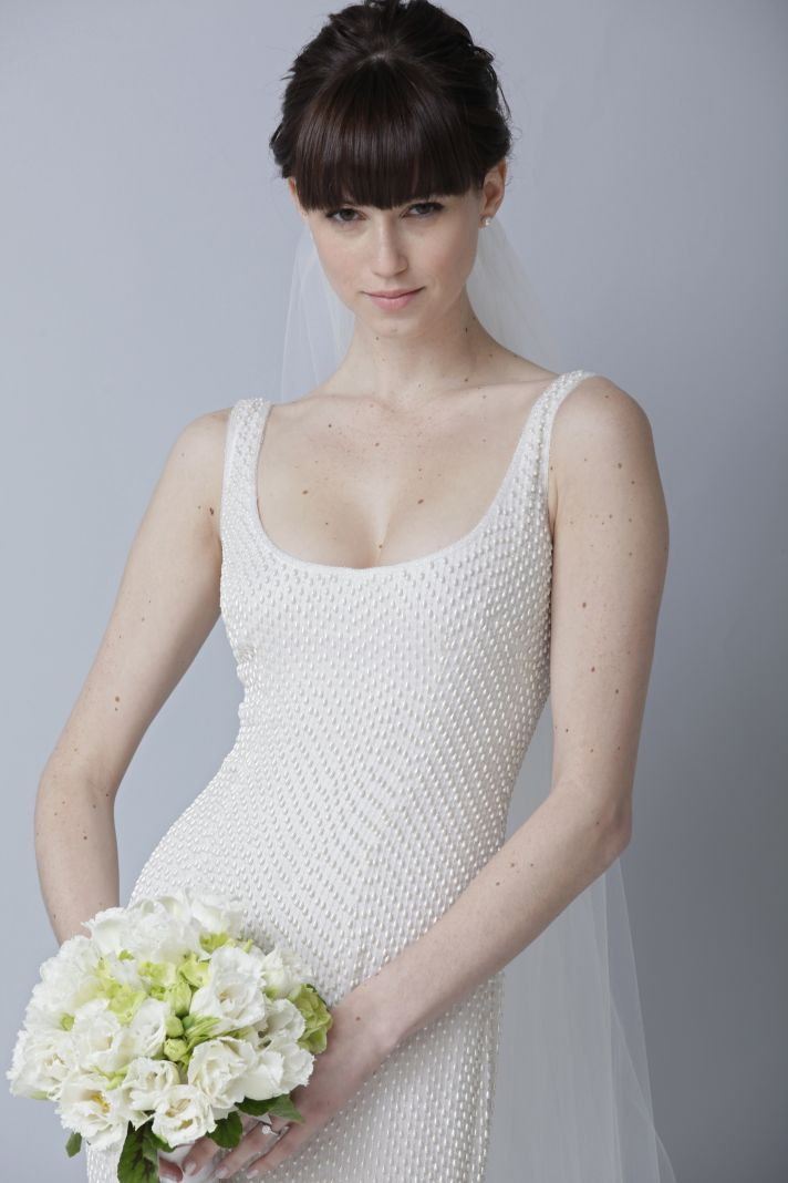 2013 wedding dress by Theia bridal gowns scoop neck