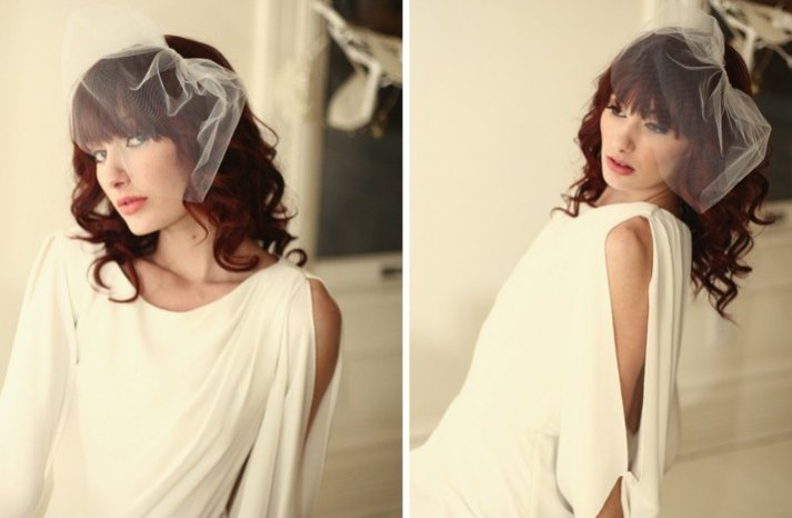 romantic wedding accessories tulle bridal veils from Etsy 1