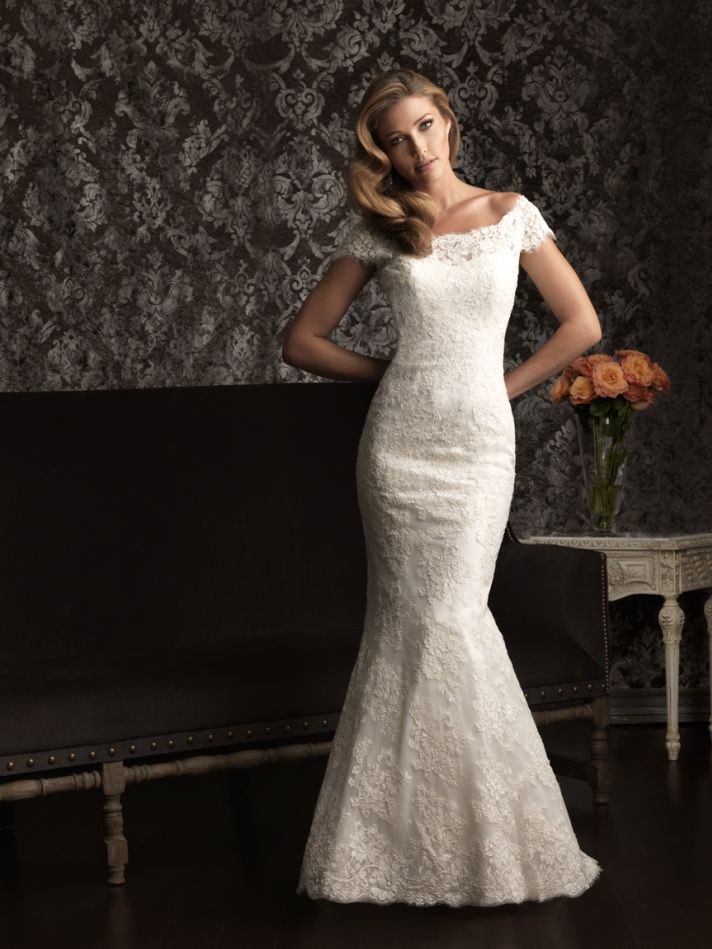 15 wedding gowns to fall for from allure bridals onewed. Black Bedroom Furniture Sets. Home Design Ideas