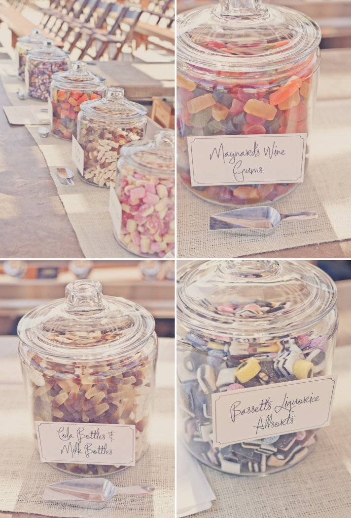elegant outdoor wedding inspiration peach lavender colors candy bar