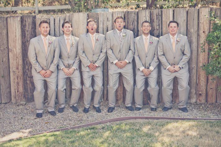 wine country wedding funny groomsmen shot