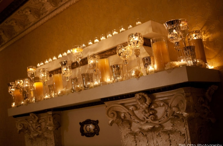 elegant wedding reception decor idea Mercury Glass 1