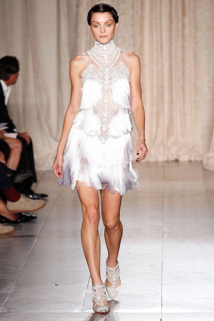catwalk to white aisle wedding style inspiration for brides New York Fashion Week marchesa