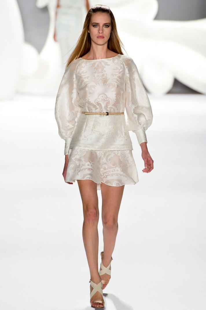 catwalk to white aisle wedding style inspiration for brides New York Fashion Week carolina herrera