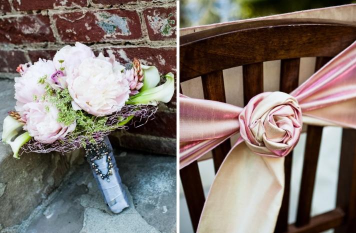 romantic California wedding vintage inspired shoot peony bouquet