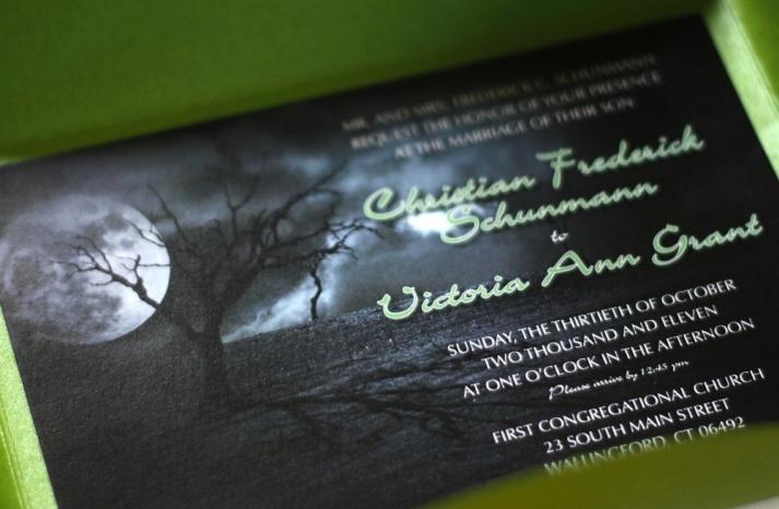 halloween wedding ideas for fall weddings Etsy handmade invitation
