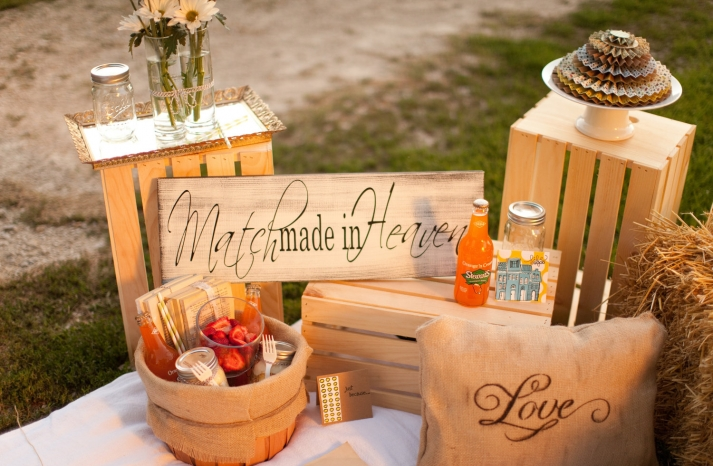 handmade wedding finds for Halloween themed I Dos handmade wood signs props