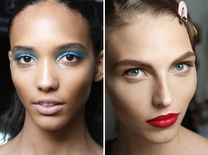bridal beauty inspiration wedding hair makeup off the catwalk nude vs red lips