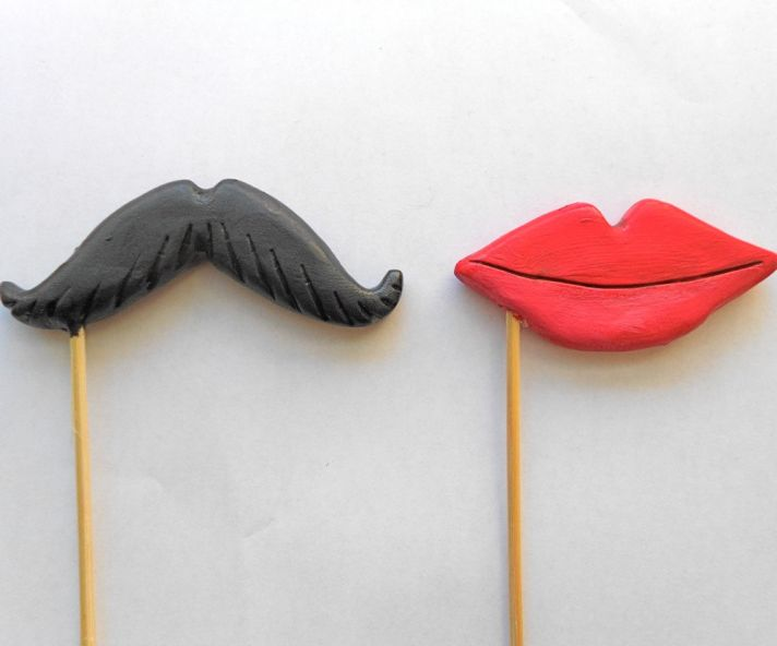 creative wedding cake toppers on Etsy Pinterest mustache and lips